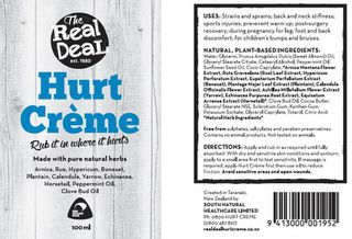 Real Deal Hurt Creme 100ml